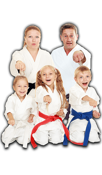 Martial Arts Lessons for Families in North Richland Hills TX - Sitting Group Family Banner