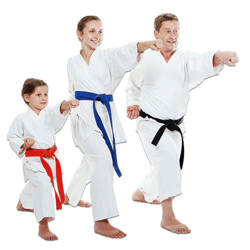 Martial Arts Lessons for Families in North Richland Hills TX - Man and Daughters Family Punching Together