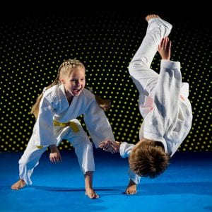 Martial Arts Lessons for Kids in North Richland Hills TX - Judo Toss Kids Girl